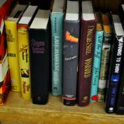 """""""Thrift Store Books,"""" photo by Kate Geraets. Flickr Creative Commons. Attribution-NonCommercial 2.0 Generic (CC BY-NC 2.0)"""
