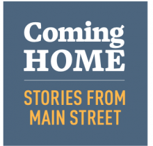 Logo for the Coming Home Stories from Main Street program
