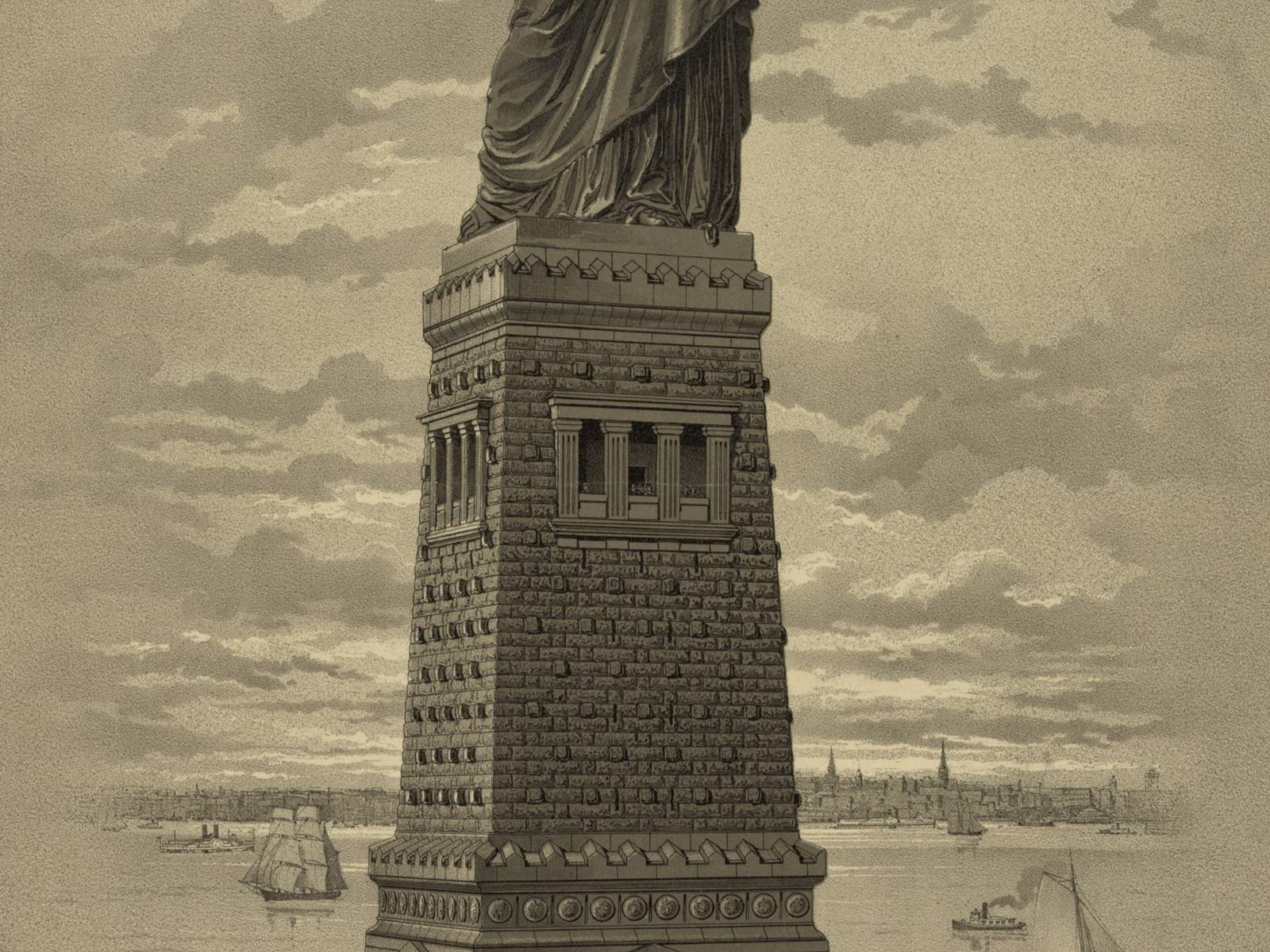 Statue of Liberty, sketch, June 30, 1884 Courtesy Library of Congress