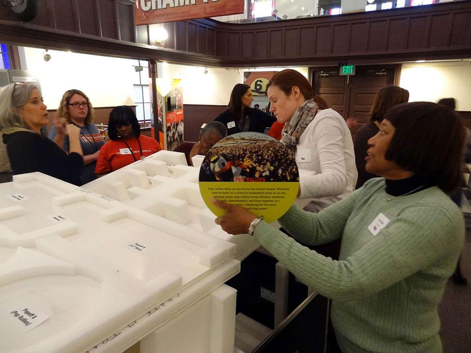 unpacking crates - Banneker-Douglass Museum, Maryland, 2015