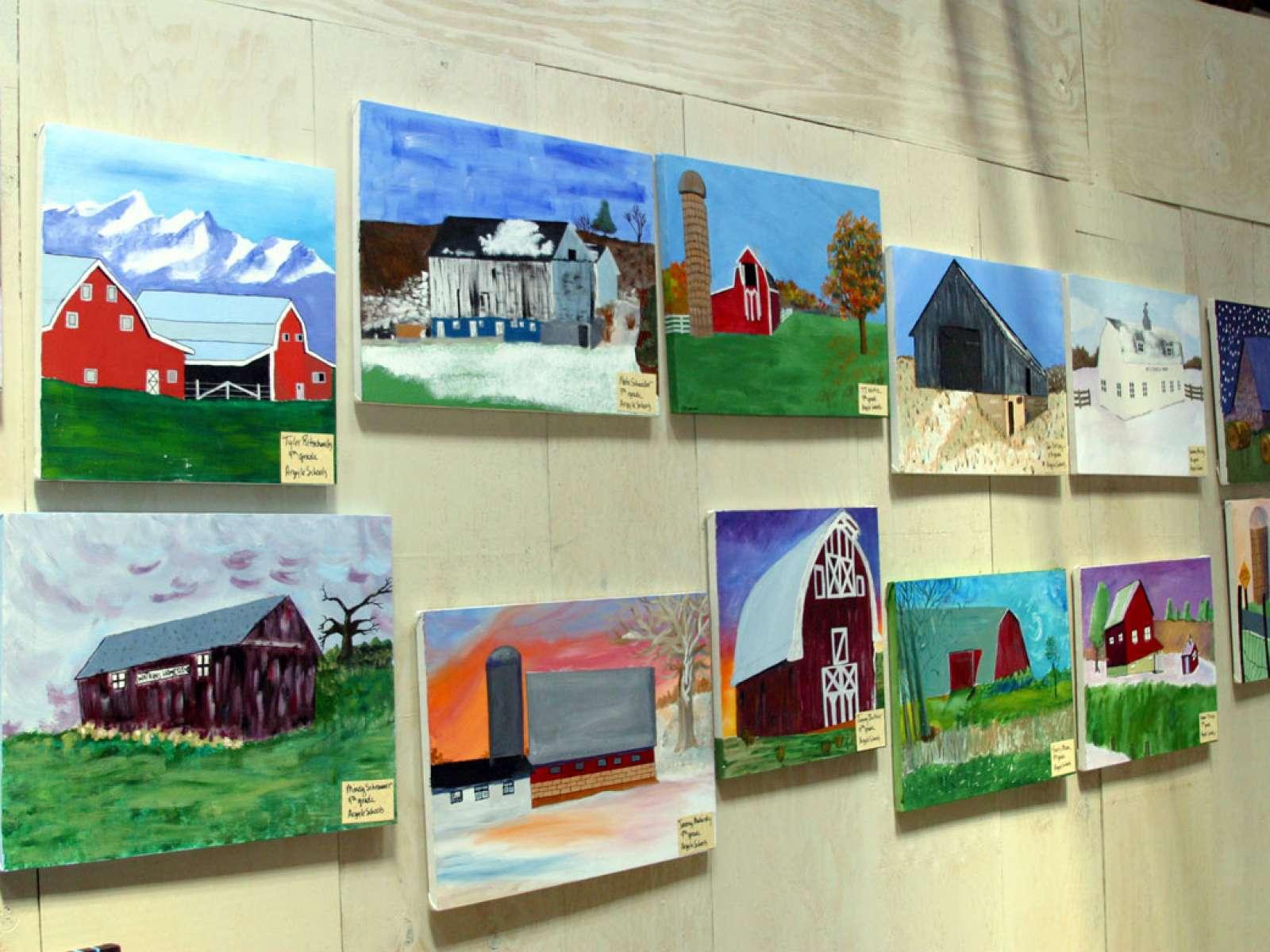 Barn Again Blancharville, Wisconsin High School Barn Art