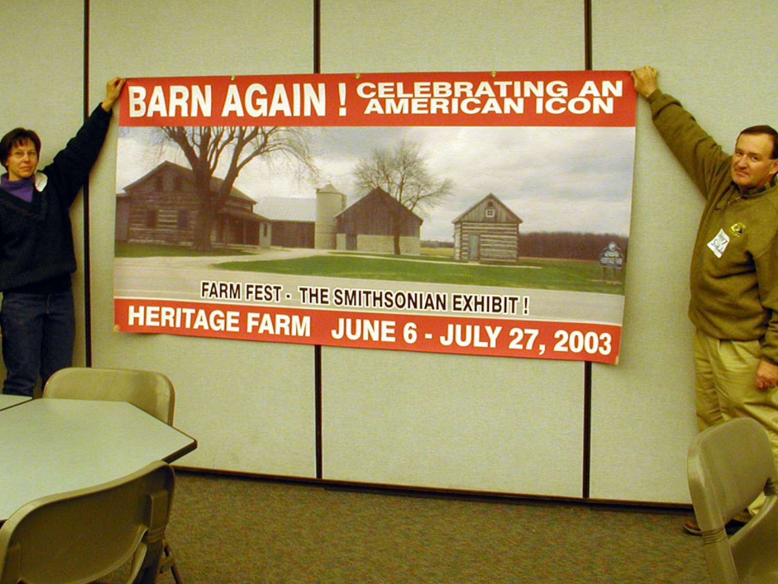 Barn  Again Farm Festival Banner in Wisconson