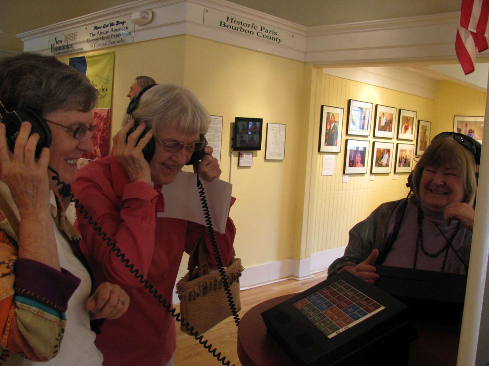 Museum visitors enjoying New_Harmonies Paris, Kentucky 2012