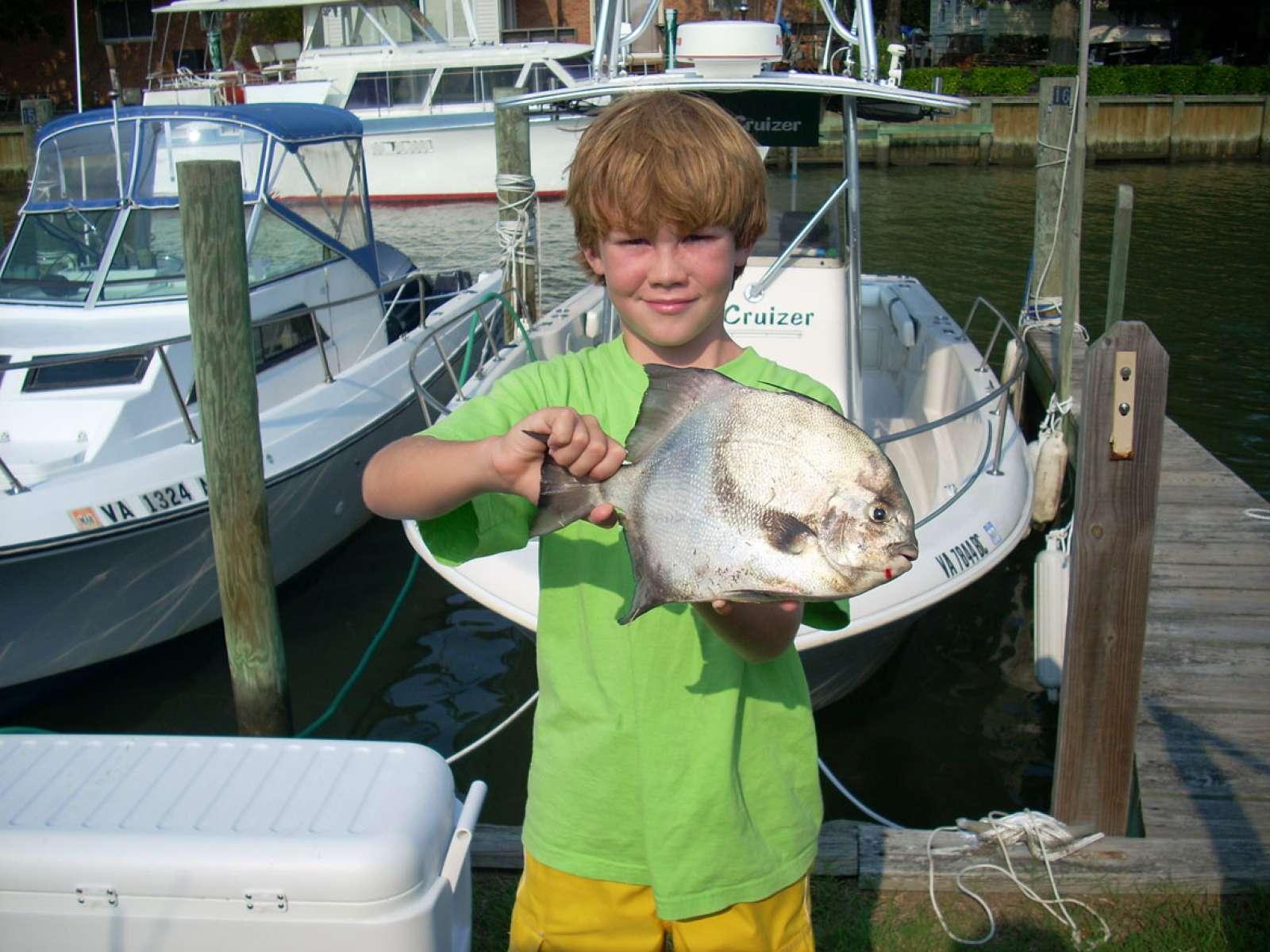 Hunter Foster from Suffolk, Virginia fishing