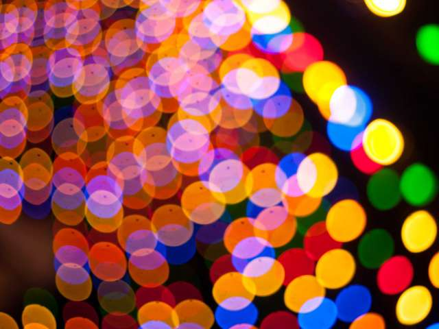 A blurry vision of colored lights. Pexels stock photo