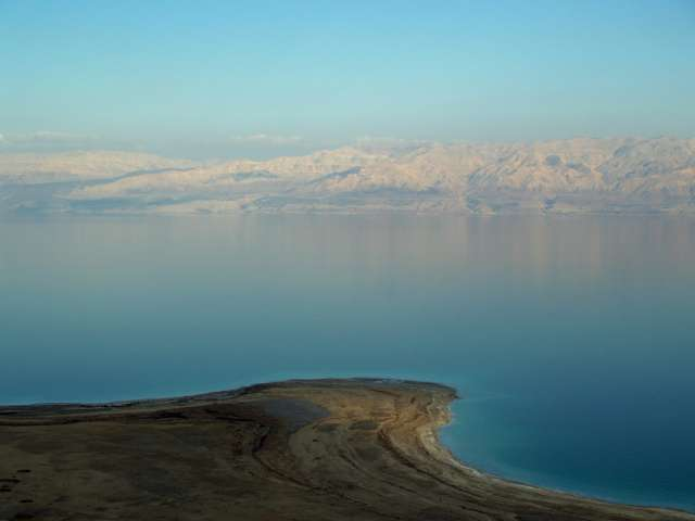 View of the Dead Sea. Photo by David Shankbone - Own work, CC BY-SA 3.0, https://commons.wikimedia.org/w/index.php?curid=3271017
