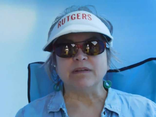 Dagney talks to Pam about oysters and the Ocean. Screenshot from video