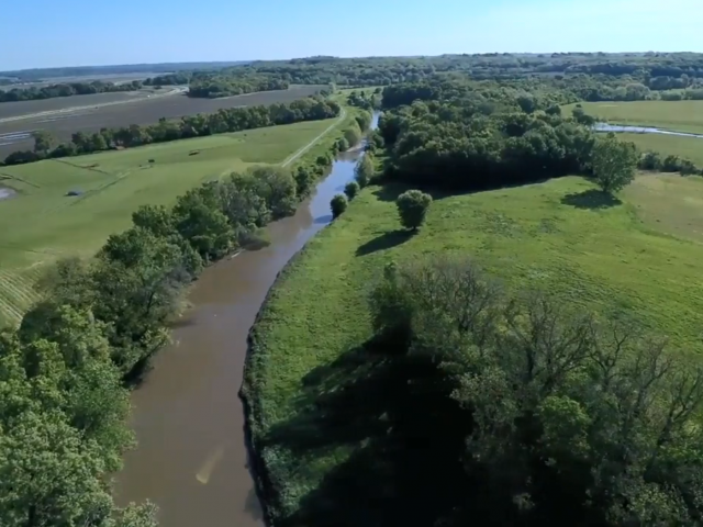 Little Blue River Aerial