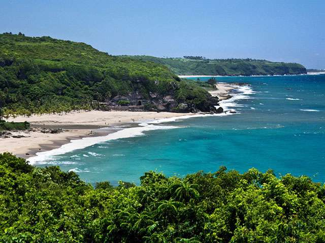 A lovely view of the sea in Puerto Rico.