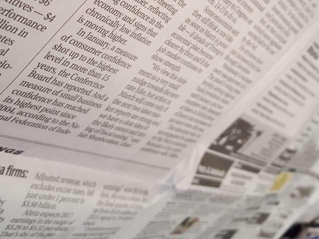 Newspaper interior