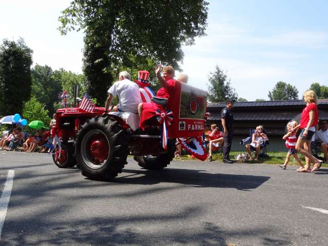 A 4th of July parade
