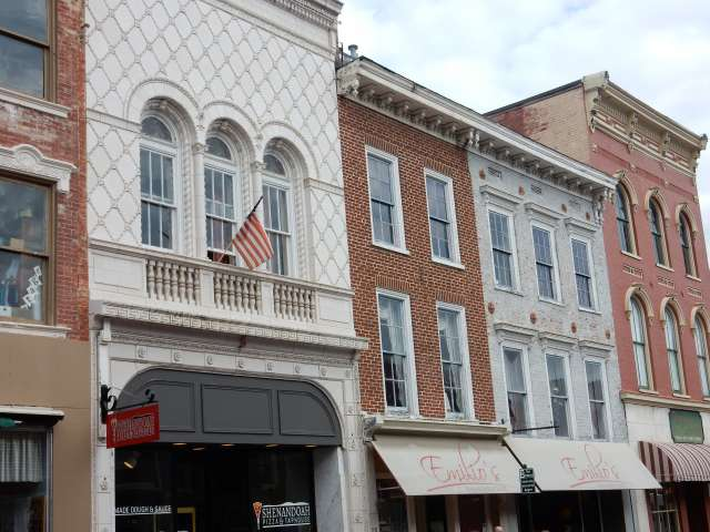 A view of buildings in a small Virginia town. Photo by Heather Shelton