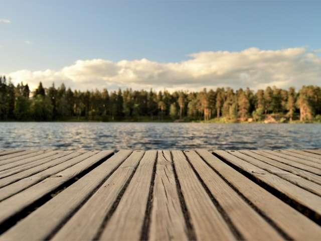 A dock on Lake Michigan. Pexels stock photo