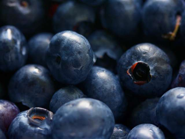 A close-up view of ripe, juicy blueberries. Pexels stock photo