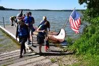 Team in canoe